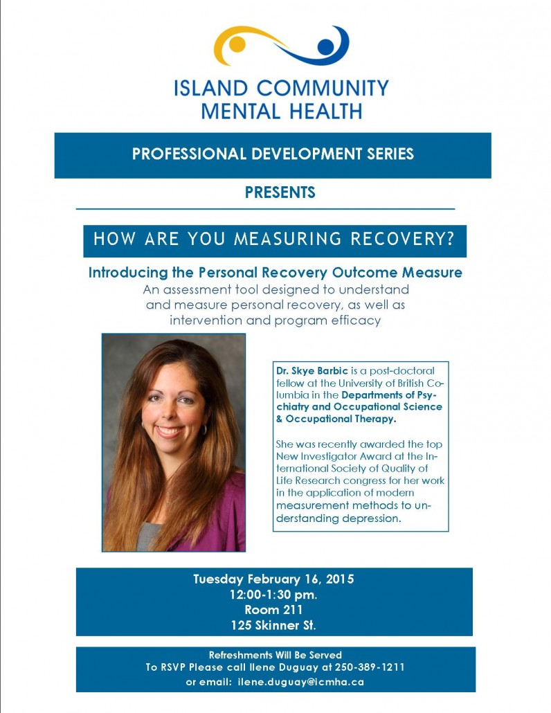 Measurement in mental health recovery island community mental health